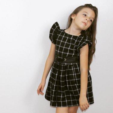 Φόρεμα μαύρο καρό