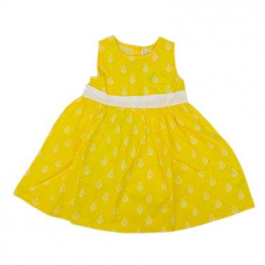 Φόρεμα βαμβακερό κίτρινο