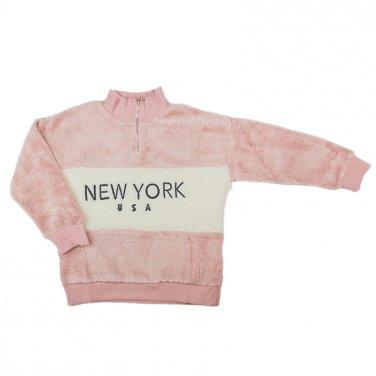 """Φούτερ """"New York"""" ροζ"""