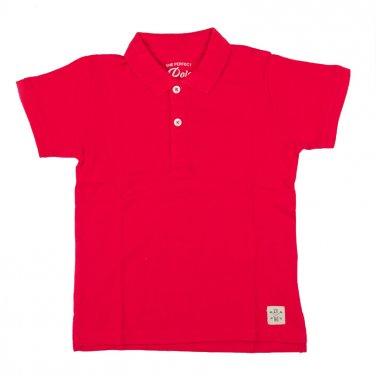 Μπλούζα πόλο κοντομάνικη κόκκινη