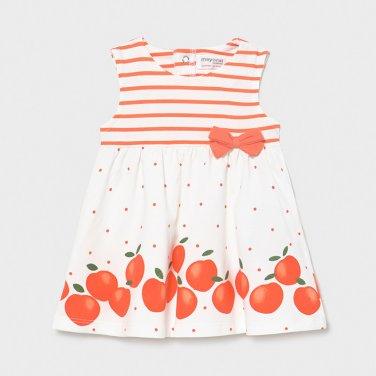 """Φόρεμα μακό """"Apple"""" λευκό"""
