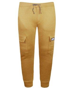 Παντελόνι φόρμας φούτερ ''Sk8boarding'' καφέ