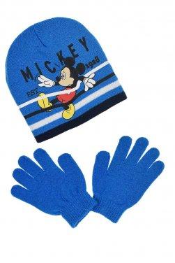 """Σετ σκούφος και γάντια """"Mickey stripes"""" ρουά"""