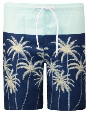 """Μαγιό βερμούδα """"Coconut tree"""" μπλε"""