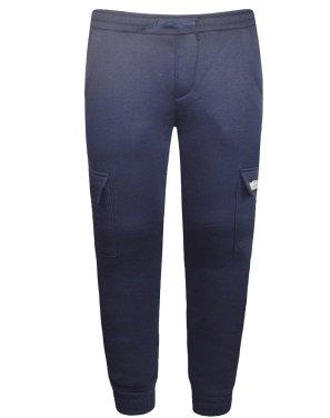 Παντελόνι φόρμας φούτερ ''Sk8boarding'' μπλε