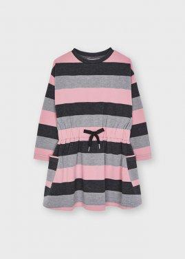 """Φόρεμα """"Glitter stripes"""" σομόν"""