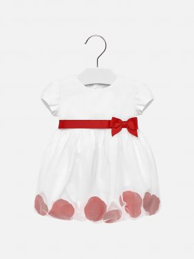 Φόρεμα τούλι με πέταλα