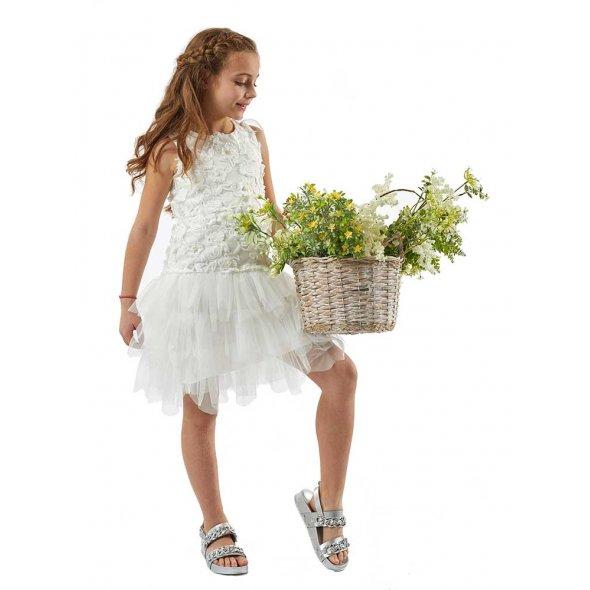 Λευκό φόρεμα με τούλι