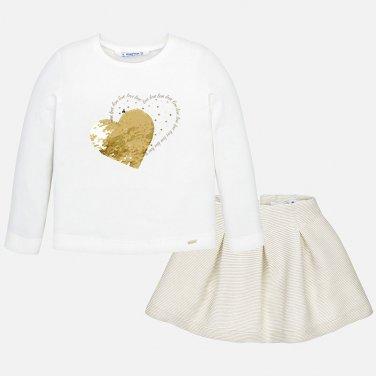 """Σετ φούστα και μπλούζα """"καρδιά"""""""