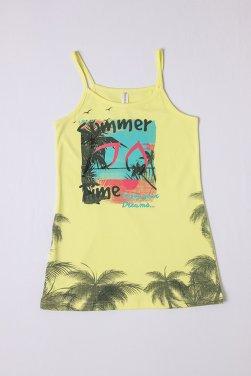 """Νυχτικό """"Summer"""" time"""" κίτρινο"""