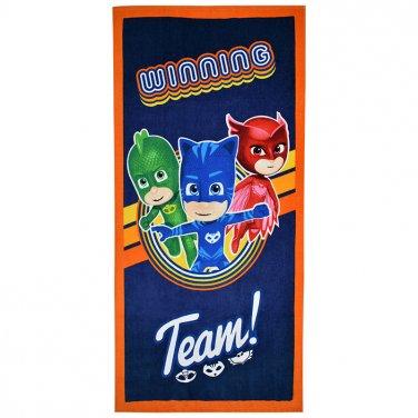 """Αυθεντική πετσέτα θαλάσσης 'PJ Masks-Team"""" (70X140)"""