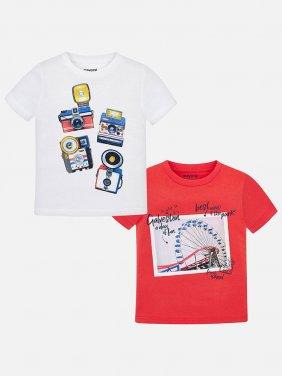"""Σετ δυο μπλούζες κοντομάνικες """"amusement park"""""""
