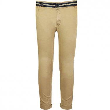 Παντελόνι chinos με ζώνη μπεζ