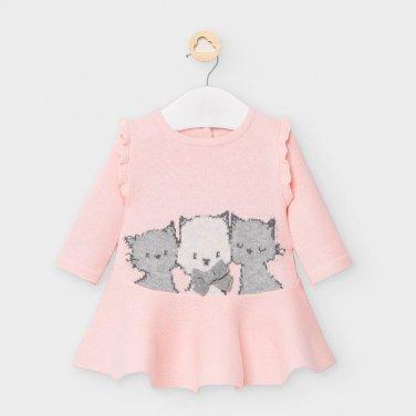 """Φόρεμα πλεκτό """"Kitties"""" ροζ"""