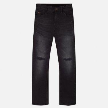 Μαύρο τζιν παντελόνι loose fit
