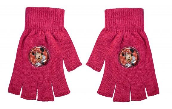 """Γάντια """"κομμένα"""" Minnie Mouse φούξια"""
