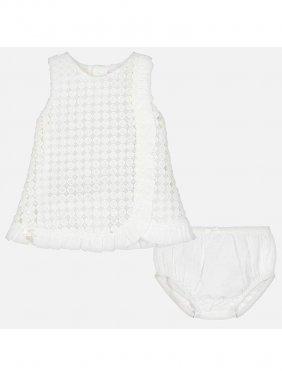Φόρεμα γκιπούρ λευκό