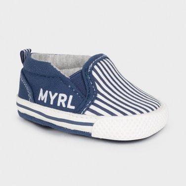 Παπούτσια με ρίγες μπλε