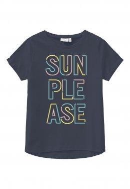 """Μπλούζα """"Sun please"""" μπλε"""