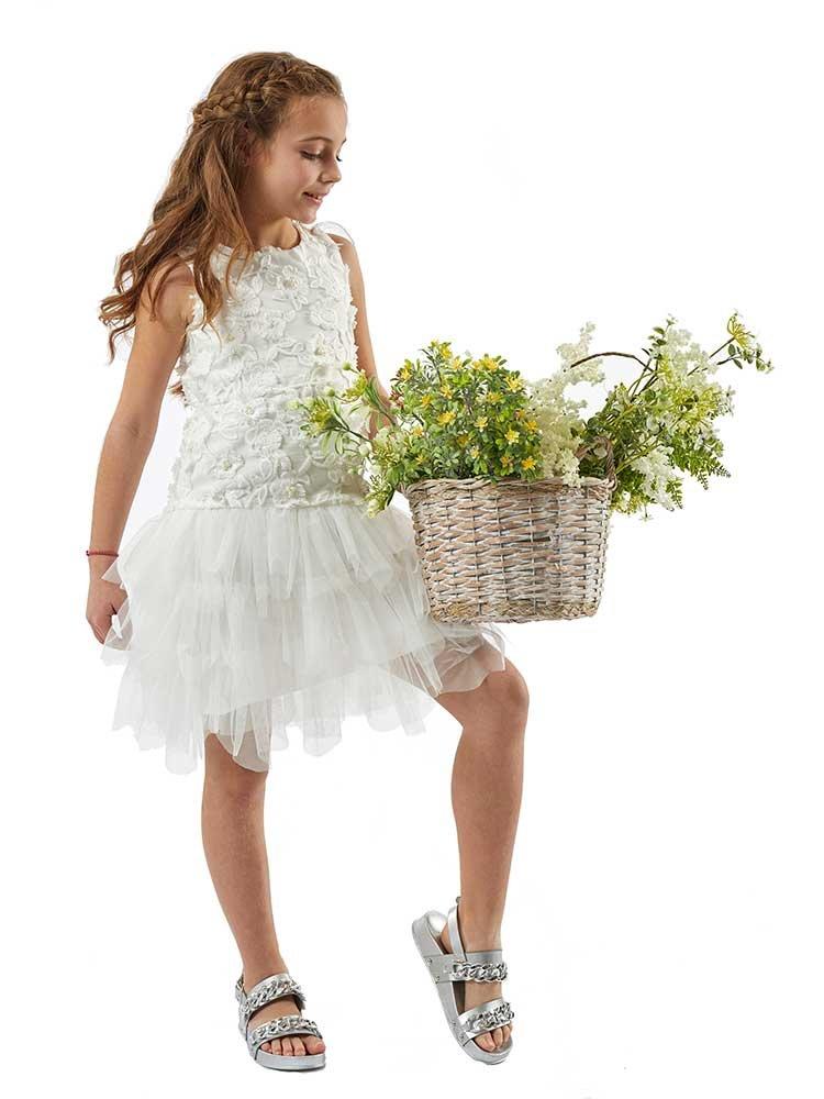 3b60eb004aa5 Λευκό φόρεμα με τούλι