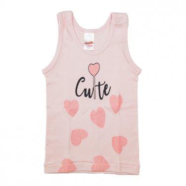 """Φανέλα αμάνικη """"Cute"""" ροζ"""