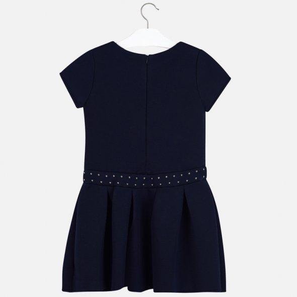Μπλε φόρεμα με τρουκς