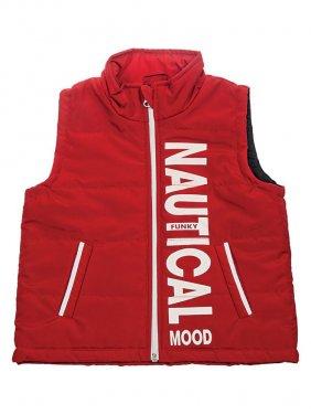 """Κόκκινο αμάνικο μπουφάν """"Nautical Mood"""""""