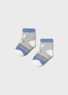 """Αντιολισθητικές κάλτσες """"Bunny"""" γαλάζιες"""