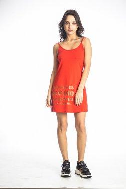 """Φόρεμα μακό """"One of a Kind"""" κόκκινο"""