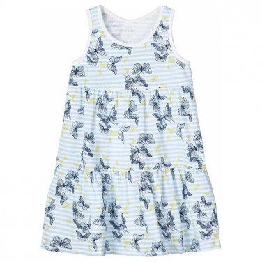 """Μακό φόρεμα """"Butterflies"""" γαλάζιο"""