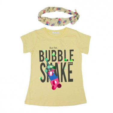 """Μπλούζα """"Bubble Shake"""" κίτρινη"""