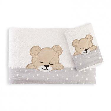 """Πετσέτες σετ 2τμχ """"Sleeping Bear"""""""