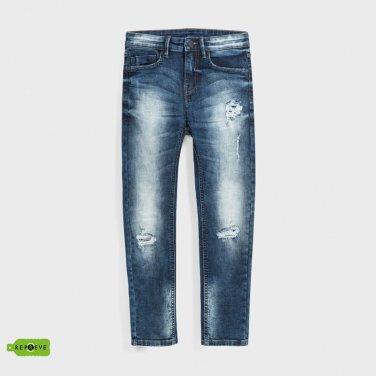 Μπλε τζιν παντελόνι loose fit