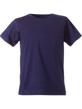 Μπλούζα κοντομάνικη μονόχρωμη με τσέπη