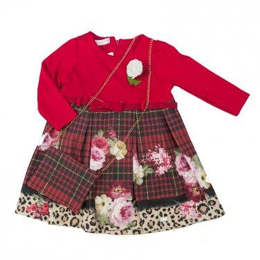 """Φόρεμα με τσαντάκι """"Flowers"""" κόκκινο"""
