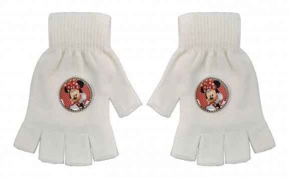 """Γάντια """"κομμένα"""" Minnie Mouse λευκά"""