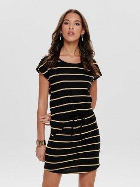 """φόρεμα μακό """"Stripes"""" μαύρο"""