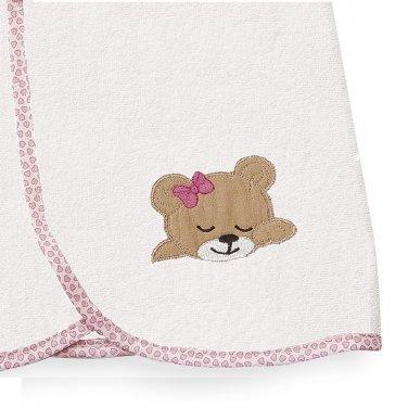 """Κάπα λευκή/ροζ """"Sleeping Bear"""""""