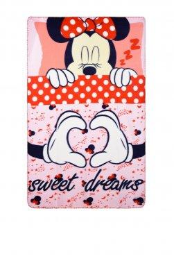"""Κουβέρτα φλις """"Minnie"""" ροζ"""