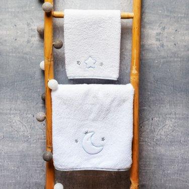"""Πετσέτες σετ 2τμχ """"Moon Prince"""" λευκό"""