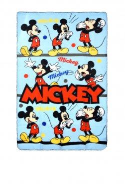 """Κουβέρτα φλις """"Mickey"""" γαλάζια"""