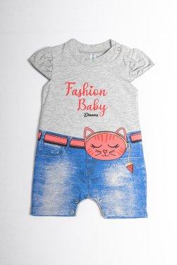 """Φορμάκι """"Fashion baby"""" γκρι μελανζέ"""