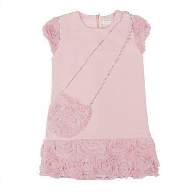 """Φόρεμα με τσαντάκι """"Roses"""" Ροζ"""