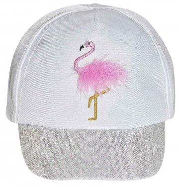 """Καπέλο τζοκευ """"Flamingo""""  λευκό"""