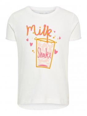 """Μπλούζα """"Milk shake"""" λευκή"""