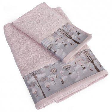 """Πετσέτες σετ 2τμχ ροζ """"Serenity"""""""