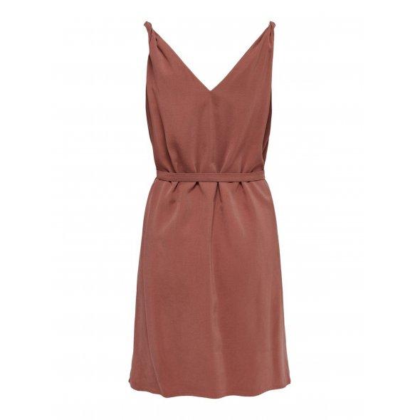 Φόρεμα V-neck σάπιο μήλο