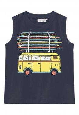 """Μπλούζα αμάνικη """"Trip Bus"""" μπλε"""