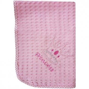 """Κουβέρτα πικέ Κούνιας """"Princess"""" ροζ"""