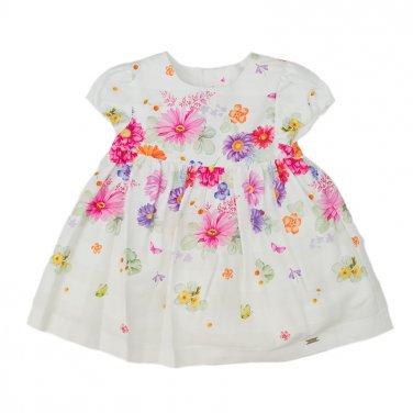 """Φόρεμα """"Flowers"""" λευκό"""